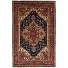 One-of-a-Kind Doerr Handmade Wool Navy Blue/Red Area Rug Rug Size: Rectangle 5'11