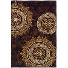 Markenfield Contemporary Modern Circles Brown/Beige Indoor/Outdoor Area Rug Rug Size: Rectangle 8' x 11'