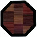 Judlaph Black/Brown Area Rug Rug Size: Octagon 7'10