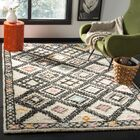Glenoe Hand-Woven Ivory/Gray/Orange Area Rug Rug Size: Rectangle 5' x 8'