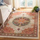 Kurtz Ivory/Red Area Rug Rug Size: Rectangle 9' x 12'