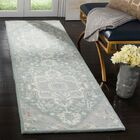 Moss Hand Tufted Wool Gray Oriental Area Rug Rug Size: Runner 2'3