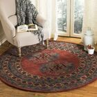 Moss Hand Tufted Wool Red Area Rug Rug Size: Round6'