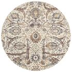 Dietrick Hand-Hooked Ivory Area Rug Rug Size: Round 7'10