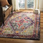 Halton Gray/Fuchsia Area Rug Rug Size: Rectangle 4' x 5'7