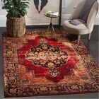 Fitzpatrick Red Area Rug Rug Size: Rectangle 6' x 9'