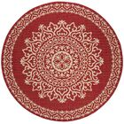 Gipson Red/Cream Area Rug Rug Size: Round 6'7