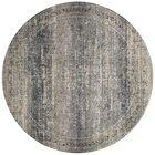 Diez Gray/Blue Area Rug Rug Size: Round 7'7