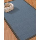 Ivy Border Hand-Woven Gray/Black Area Rug Rug Size: Rectangle 9' x 12', Rug Pad Included: Yes