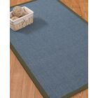 Ivy Border Hand-Woven Gray/Moss Area Rug Rug Pad Included: No, Rug Size: Runner 2'6