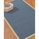 Ivy Border Hand-Woven Gray/Sand Area Rug Rug Size: Rectangle 12' x 15', Rug Pad Included: Yes