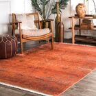Mariah Orange Area Rug Rug Size: Rectangle 8' x 10