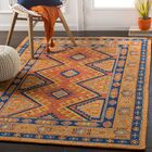 Robbins Bright Orange Area Rug Rug Size: Rectangle 4' x 6'