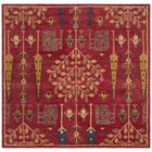 Albrightsville Hand Tufted Wool Red Area Rug Rug Size: Square 6' x 6'