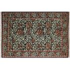 One-of-a-Kind Mulhall Floral Hand-Knotted Wool Black/Green Area Rug Rug Size: Rectangle 6' x 9'3