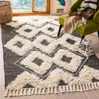 Albertina Hand Knotted Wool Black/Beige Area Rug Rug Size: Rectangle 4' x 6'