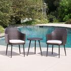 Brant 3 Piece Conversation Set with Cushions Fabric: Brown