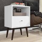 Amory 1 Drawer Nightstand Color: White