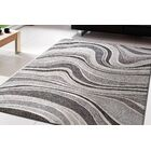 Gerin Gray Wave Area Rug Rug Size: Rectangle 5'3