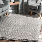 Chery Hand-Woven Gray Area Rug Rug Size: Rectangle 8'6