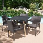 Dionysus Modern 5 Piece Dining Set Color: Brown