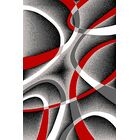Mccampbell Gray/Red Area Rug Rug Size: Rectangle 5' x 8'