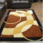 Mccampbell Brown/Cream Area Rug Rug Size: Rectangle 3'9? x 5'3