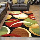 Mccampbell Black/Green Area Rug Rug Size: Rectangle 5' x 7'
