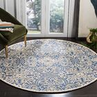 Marys Rustic Hand Tufted Wool Blue Area Rug Rug Size: Round 6'