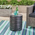 Outdoor Side Table Color: Black