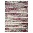 Harvey Stripe Ivory/Purple Area Rug Rug Size: 7'10