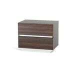 Decastro 2 Drawer Solid Wood Nightstand Color: Ebony