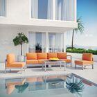 Coline 5 Piece Sofa Set with Cushions Fabric: Orange