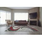Spruce Hill Spirals Red/Dark Gray Area Rug Rug Size: Rectangle 5'3