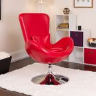 Palisades Leather Lounge Chair Seat Color: Red