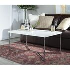 Seguin Coffee Table Table Base Color: Chrome, Table Top Color: White