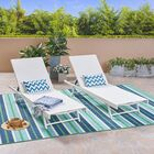 Emrich Outdoor Double Reclining Chaise Lounge