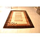 Peak Hand-Tufted Brown/Yellow Area Rug Rug Size: Rectangle 5' x 7'