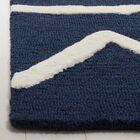Claro Zigzag Hand-Tufted Navy Area Rug Rug Size: Rectangle 5' x 7'