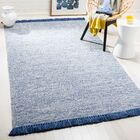 Nida Hand-Woven Blue/Gray Area Rug Rug Size: Rectangle 5' x 8'