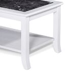Folkerts Natural Marble Top Coffee Table