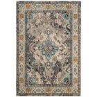 Annabel Grey & Silver Area Rug Rug Size: Rectangle 4' x 5'7