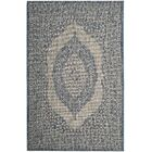 Myers Gray/Blue Area Rug Rug Size: Rectangle 5'3