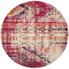 Alfred Tibetan Pink Area Rug Rug Size: Round 6'7