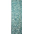 Kory Hand-Tufted Wool Teal Area Rug Rug Size: Runner 2'6