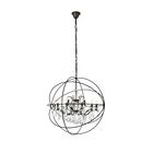 Svante 18-Light Globe Pendant Finish: Dark Bronze, Crystal: Golden Teak (Smoky)