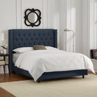 Davina Upholstered Panel Bed Size: Queen, Color: Navy