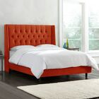 Brunella Upholstered Diamond Tufts Panel Bed Size: Full, Color: Mystere Mango