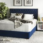 Reynaldo Upholstered Panel Bed Size: Queen, Color: Navy