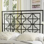 Dimatteo Open-Frame Headboard Size: Queen, Color: Gunmetal